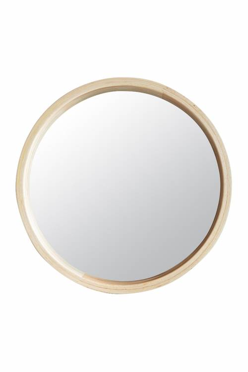 SELVA WOOD FRAME ROUND MIRROR : WM002